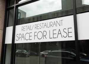 Retail and restaurant space for lease.